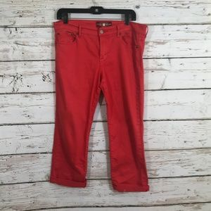 Lucky Brand Red Sweet and Crop Jeans